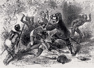 Underhill slaughtering Indians
